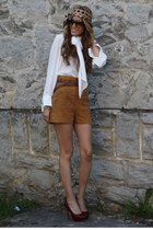 H&M shorts - Chanel sunglasses - Zara blouse