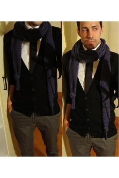 Zara shirt - dior homme tie - Grifoni sweater - April77 pants