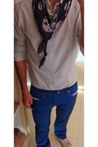 Alexander McQueen scarf - Sisley shirt - vivienne westwood pants