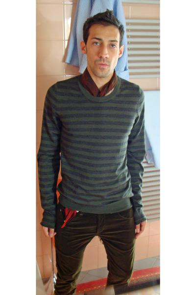 Burberry Prorsum sweater - Alexander McQueen scarf - dondup pants