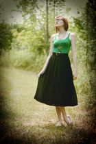 black maxi dress Goodwill skirt - green Forever21 top