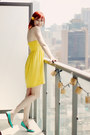 Yellow-empire-waist-h-m-dress