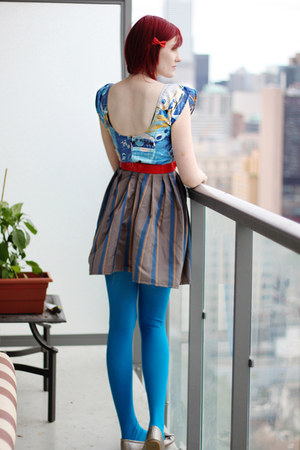 blue vintage fabric rustycuts dress