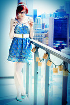 light blue lace flowers Titania Dreaming accessories