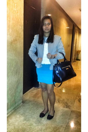 heather gray g2000 blazer - black Charles and Keith bag