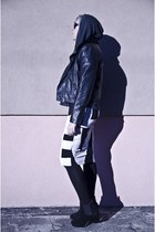black deezee boots - black H&M jacket - dark gray Zara blouse