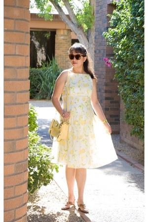 comfy ann taylor dress - color charmingcharlie bag - design Kenneth Cole sandals