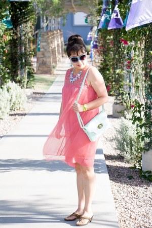 design Aldo necklace - color Anthropologie dress - color charmingcharlie bag