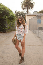 Target boots - Anthropologie bag - Urban Outfitters shorts - asos sunglasses