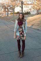 Zara shirt - Target boots - Nasty Gal dress - H&M scarf - ann taylor vest