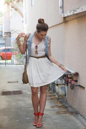 Target belt - Dolce Vita dress - Anthropologie bag - Urban Outfitters sunglasses