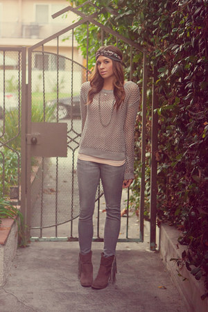 H&M jeans - Target boots - Forever 21 sweater - H&M top