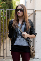 asos boots - Zara jeans - asos jacket - Anthropologie bag - Forever 21 top
