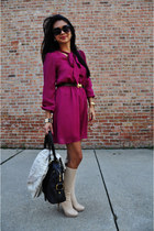 asos dress - christian dior boots - Yves Saint Laurent bag - tj Designs bracelet