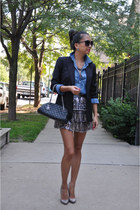 Forever 21 skirt - Armani Exchange blazer - Chanel bag - Bella Dahl blouse
