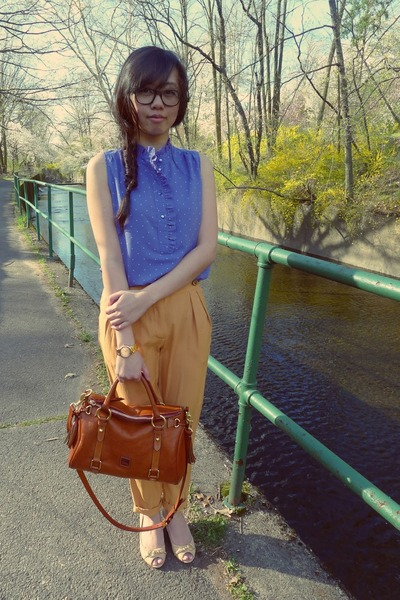 JCrew blouse - Urban Outfitters pants