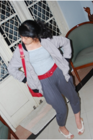 shirt - belt - pants - shoes - purse - jacket