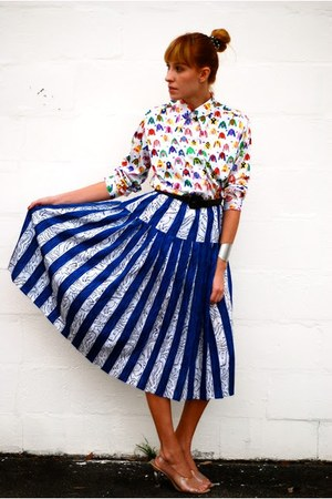 lanvin blouse - cinderella heels - skirt - silver cuff H&M bracelet