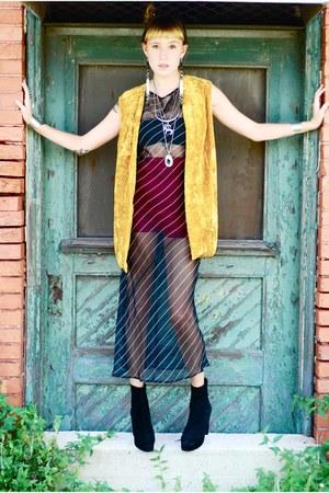 Pink Cheetah Vintage dress - vest