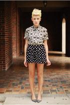 scarf - shorts - blouse - Zara flats