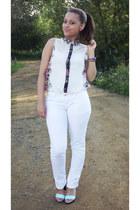 Primark jeans - Primark blouse - H&M heels