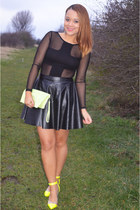 Missguided top - Missguided skirt - Ebay heels