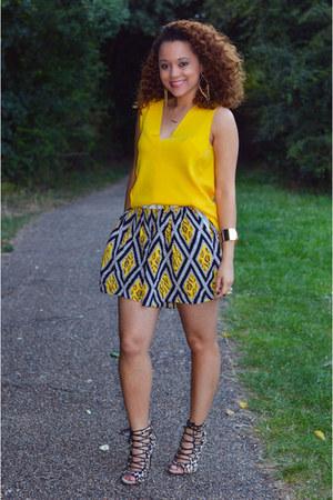 Zara top - Topshop shorts - Zara heels