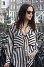 White-striped-choies-blouse-dark-gray-weekday-jeans