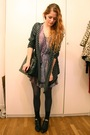 Purple-vintage-dress-gray-second-hand-sweater-black-vintage-boots-vintage-