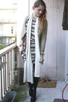 beige Zara jacket - white H&M dress - silver rubytuesdaystorecom earrings