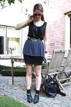 H&M shirt - Boohoo belt - vintage skirt - vintage boots