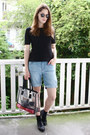 Black-studded-new-look-shoes-dark-brown-clear-nelly-bag
