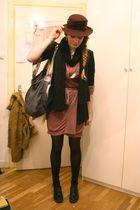 white Zara blouse - black H&M blazer - gray Stella McCartney bag