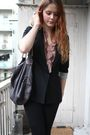 Black-h-m-blazer-black-american-apparel-jeans-black-stella-mccartney-purse-