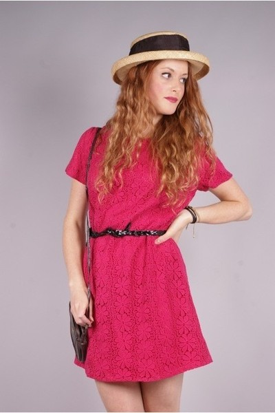 vintage dress - vintage hat - vintage belt - vintage purse - Newport News shoes