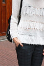 White-fringe-apart-sweater-black-buckle-sacha-boots