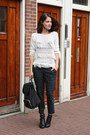 Black-buckle-sacha-boots-white-fringe-apart-sweater