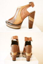 tan brown leather Emma Cook for Topshop heels
