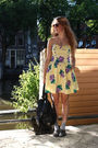 Yellow-vintage-dress-black-vintage-purse-gray-topshop-socks-gray-gifted-sh