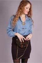 vintage blouse - H&M skirt - vintage accessories