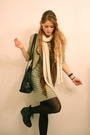 Beige-zara-jacket-gray-filippa-k-dress-black-vintage-purse-black-wedins-bo