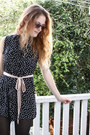 Black-polkadot-motel-dress-crimson-floral-monki-sunglasses-black-perspex-mod