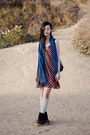 Black-mens-fila-boots-carrot-orange-satin-striped-forever21-dress