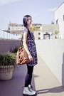 White-dr-martens-boots-deep-purple-h-m-dress-black-black-forever-21-tights