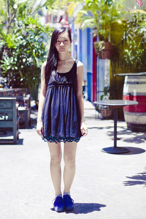 black Forever 21 dress - black polka dot a shop in harajuku skirt