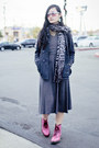 Hot-pink-lamper-8eye-dr-martens-boots-charcoal-gray-pleated-k-petit-dress