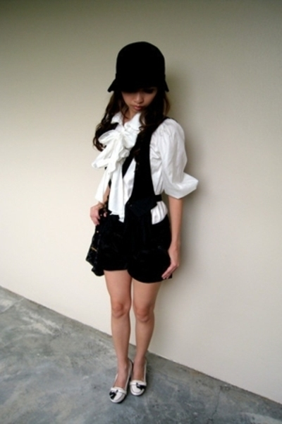 Forever21 hat - from japan blouse - from japan vest - from singapore shorts