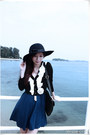 Victorias-secret-dress-forever-new-hat-cardigan
