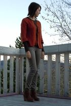 orange Ross sweater - brown Kenneth Cole shirt - silver H&M pants - brown Aldo s