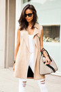 Beige-all-saints-coat-white-frame-denim-jeans-tan-givenchy-bag
